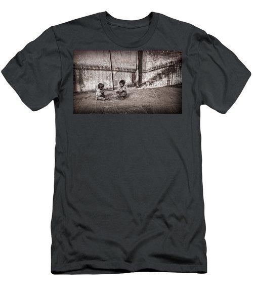 Two Little Boys Men's T-Shirt (Athletic Fit)