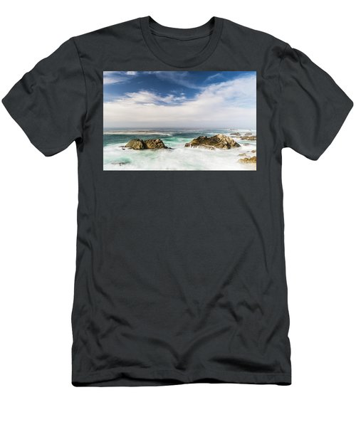 Men's T-Shirt (Athletic Fit) featuring the photograph Two Rocks In The Pacific Ocean by Jingjits Photography