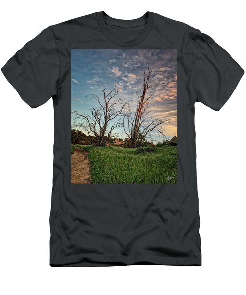 Two Sentinels Men's T-Shirt (Slim Fit) by Endre Balogh