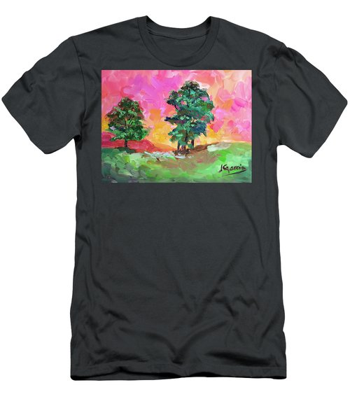 Two Trees Men's T-Shirt (Slim Fit) by Janet Garcia