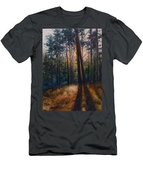 Two Trees Men's T-Shirt (Slim Fit) by Rick Nederlof