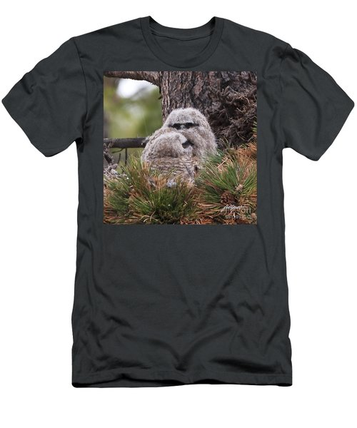 Two Whooo's  Men's T-Shirt (Athletic Fit)
