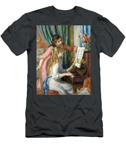 Two Young Girls At The Piano, 1892  Men's T-Shirt (Athletic Fit)