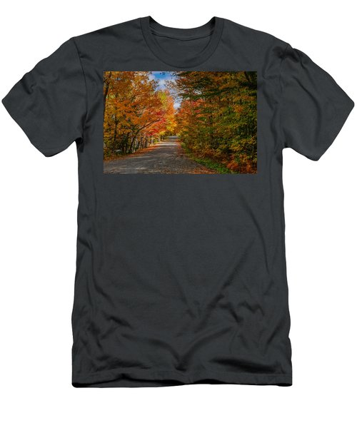 Typical Vermont Dirve - Fall Foliage Men's T-Shirt (Athletic Fit)