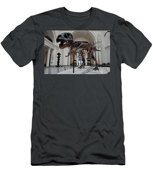 Men's T-Shirt (Slim Fit) featuring the digital art Tyrannosaurus Rex Sue - Chicago by Daniel Hagerman