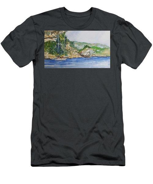 U Capu Biancu Men's T-Shirt (Athletic Fit)