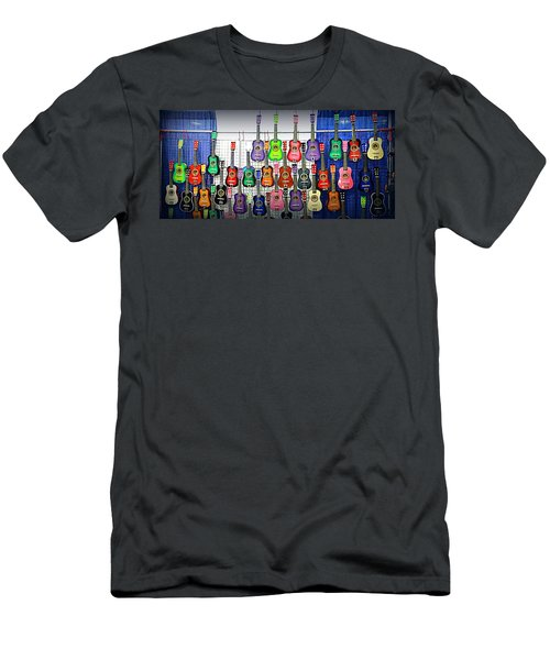 Men's T-Shirt (Slim Fit) featuring the photograph Ukuleles At The Fair by Lori Seaman