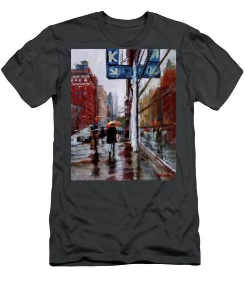 Umbrellas On Amsterdam Aveune Men's T-Shirt (Athletic Fit)