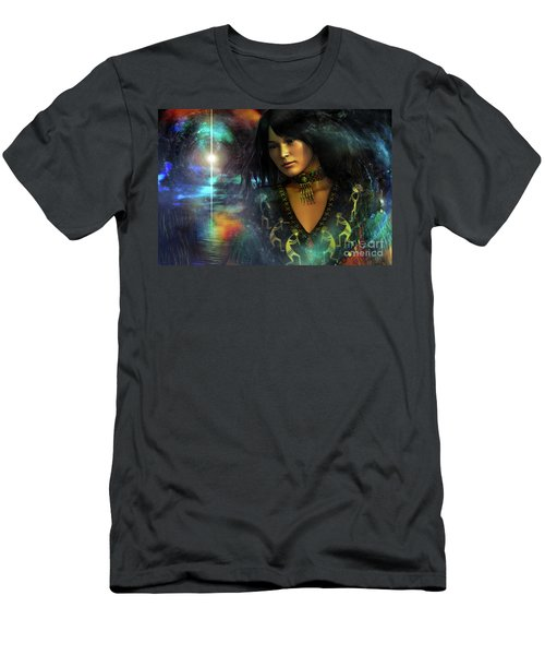 Men's T-Shirt (Slim Fit) featuring the digital art Una   ...   Remember by Shadowlea Is
