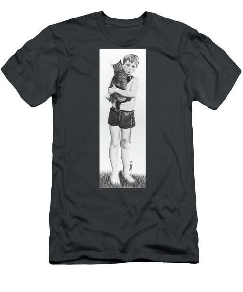 Men's T-Shirt (Slim Fit) featuring the painting Uncle George by Ferrel Cordle