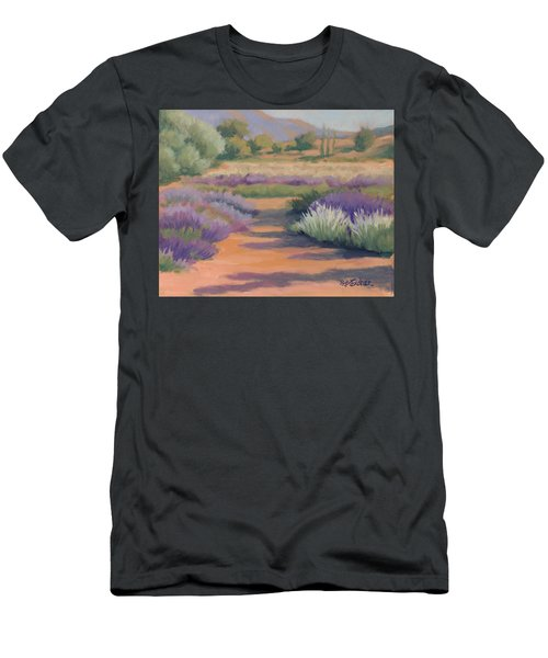 Under A Summer Sun In Lavender Fields Men's T-Shirt (Athletic Fit)