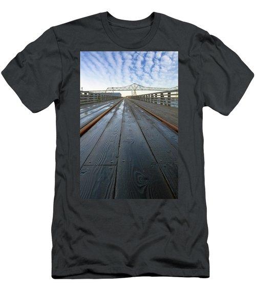 Under Astoria Megler Bridge On Riverwalk Men's T-Shirt (Athletic Fit)