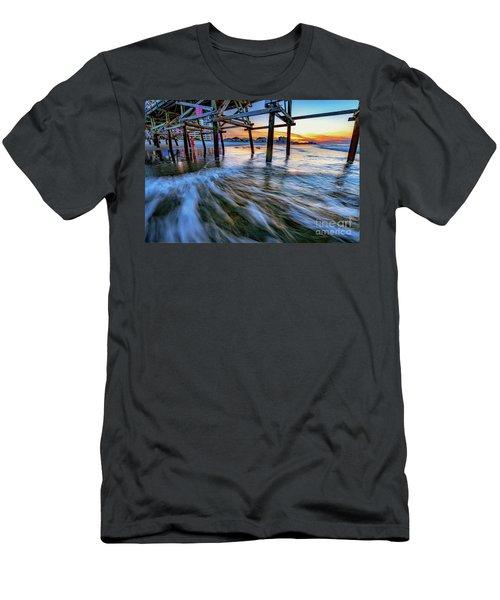 Under Cherry Grove Pier 2 Men's T-Shirt (Athletic Fit)