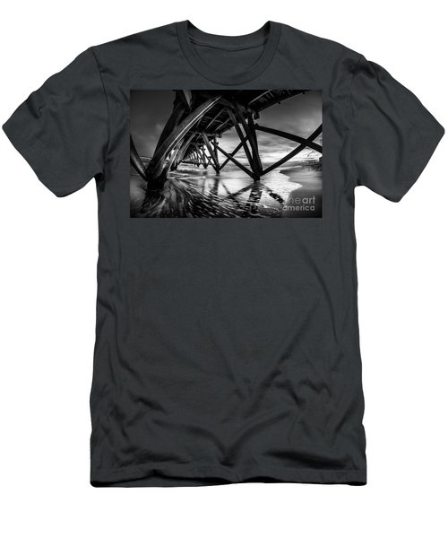 Under Sea Cabin Pier At Sunset Men's T-Shirt (Athletic Fit)