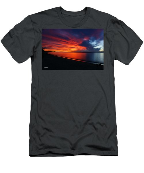 Men's T-Shirt (Slim Fit) featuring the photograph Under The Blood Red Sky by Gary Crockett