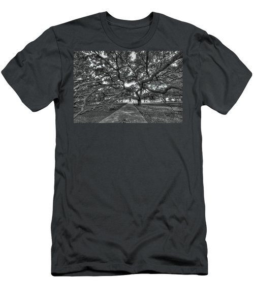 Under The Century Tree - Black And White Men's T-Shirt (Slim Fit) by David Morefield