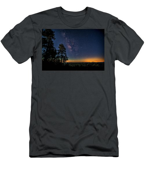 Men's T-Shirt (Athletic Fit) featuring the photograph Under The Milky Way  by Saija Lehtonen