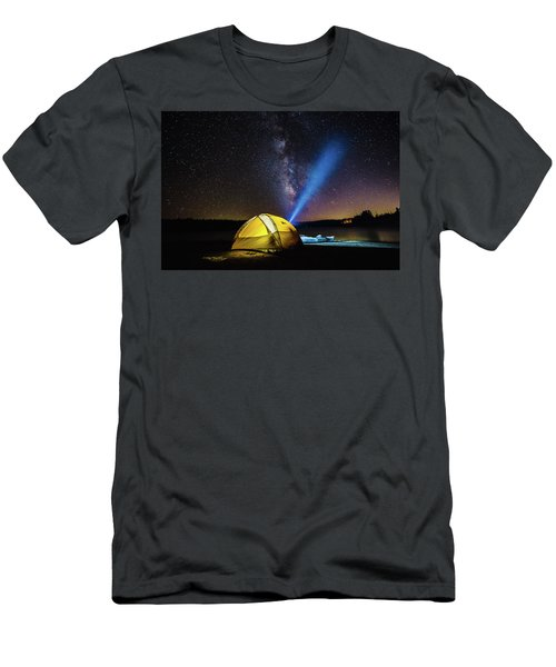 Under The Stars Men's T-Shirt (Slim Fit) by Alpha Wanderlust