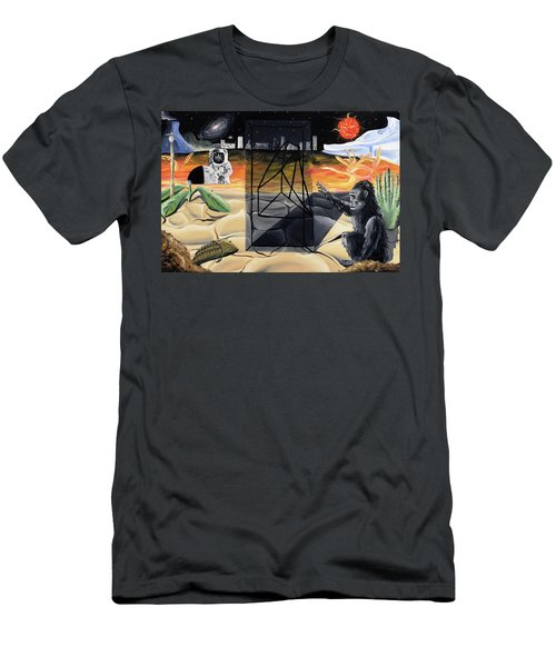 Men's T-Shirt (Athletic Fit) featuring the painting Understanding Time by Ryan Demaree