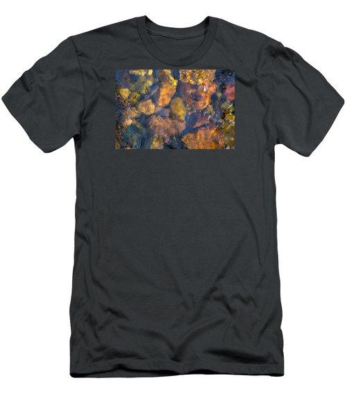 Underwater River Rocks Men's T-Shirt (Athletic Fit)