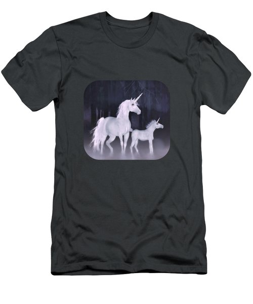 Unicorns In The Mist Men's T-Shirt (Athletic Fit)