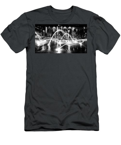 Men's T-Shirt (Athletic Fit) featuring the photograph Union Station Fountains by Stephen Holst