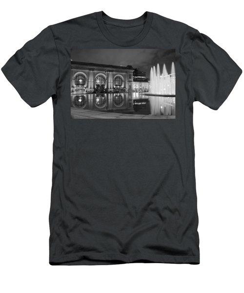 Union Station Reflections Men's T-Shirt (Slim Fit) by Steven Bateson