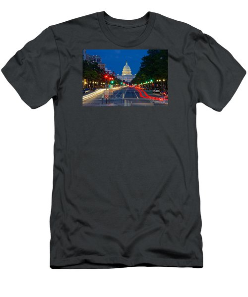 United States Capitol Along Pennsylvania Avenue In Washington, D.c.   Men's T-Shirt (Athletic Fit)