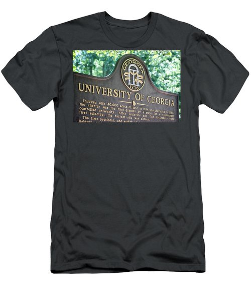 Men's T-Shirt (Slim Fit) featuring the photograph University Of Georgia Sign by Parker Cunningham