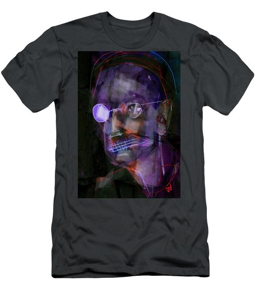 Men's T-Shirt (Slim Fit) featuring the painting Untitled - 12dec2016 by Jim Vance