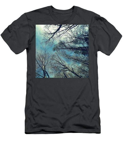 Men's T-Shirt (Slim Fit) featuring the photograph Up by Tammy Schneider