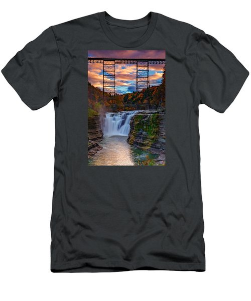 Upper Falls Letchworth State Park Men's T-Shirt (Athletic Fit)