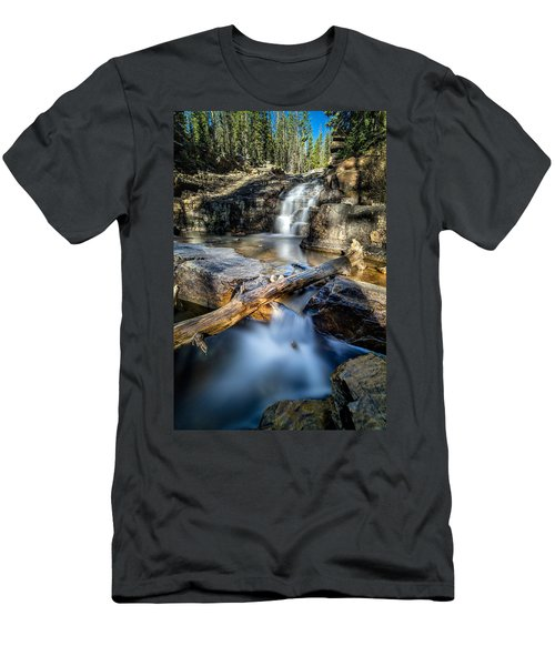 Upper Provo River Falls Men's T-Shirt (Athletic Fit)