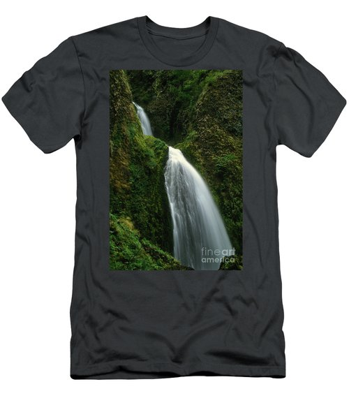 Upper Wahkeena Falls Men's T-Shirt (Athletic Fit)