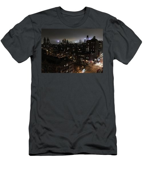 Men's T-Shirt (Slim Fit) featuring the photograph Upper West Side by JoAnn Lense