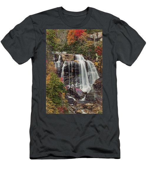 Men's T-Shirt (Athletic Fit) featuring the photograph Upper Whitewater Falls North Carolina by Bellesouth Studio