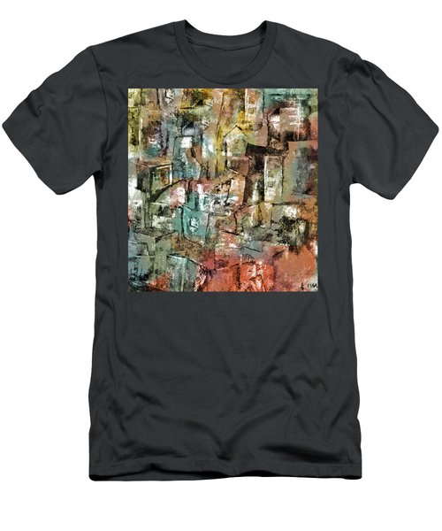 Men's T-Shirt (Slim Fit) featuring the mixed media Urban #6 by Kim Gauge