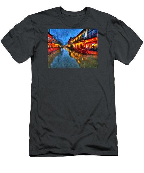 Urban Rain Reflections Men's T-Shirt (Slim Fit) by Andre Faubert