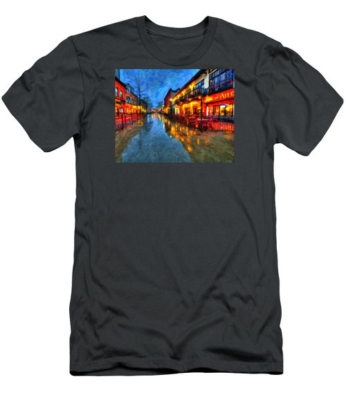 Urban Rain Reflections Men's T-Shirt (Athletic Fit)