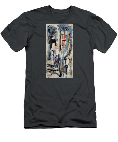 Men's T-Shirt (Slim Fit) featuring the painting Urban Street 2 by Mary Schiros