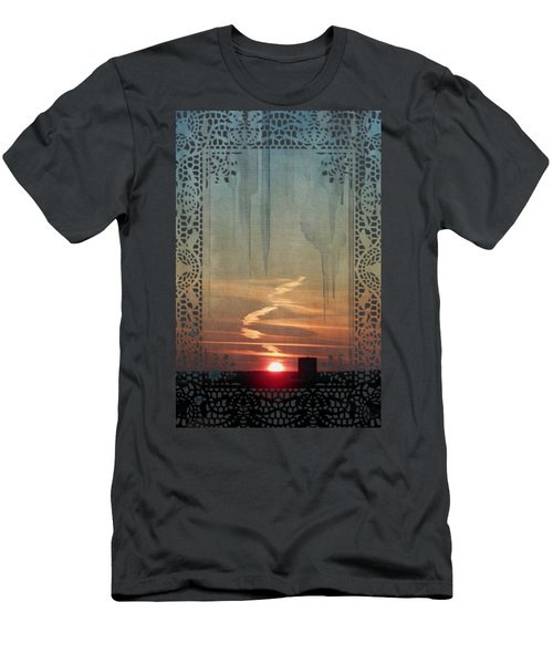 Men's T-Shirt (Athletic Fit) featuring the painting Urban Sunrise by Ivana Westin