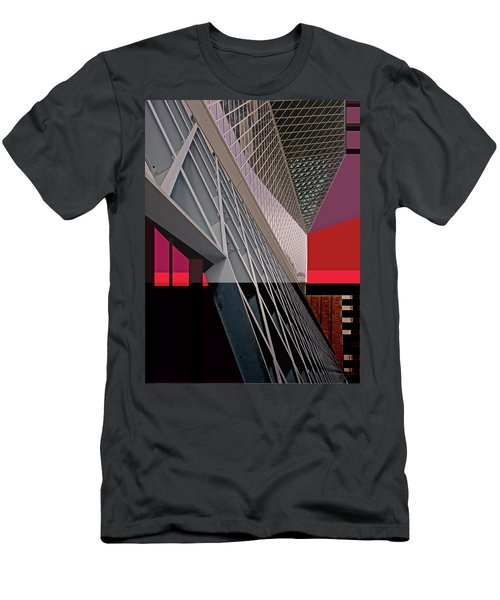 Men's T-Shirt (Athletic Fit) featuring the digital art Urban Sunset by Walter Fahmy