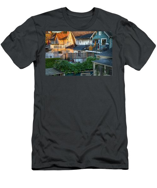 Men's T-Shirt (Slim Fit) featuring the photograph Urban Vancouver by Theresa Tahara