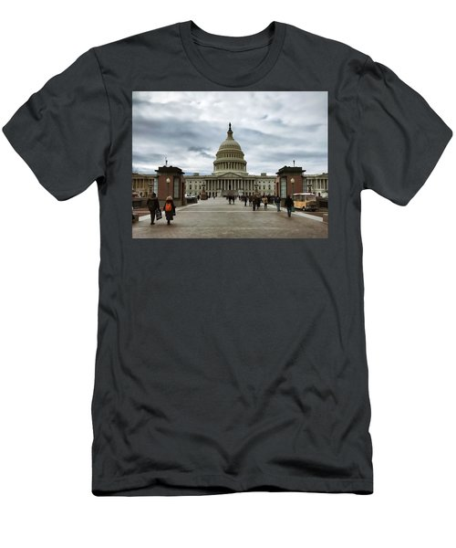 U.s. Capitol Building Men's T-Shirt (Athletic Fit)