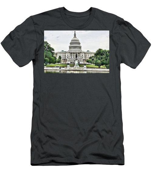 U.s. Capitol Building Men's T-Shirt (Athletic Fit)
