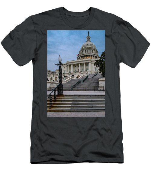 Men's T-Shirt (Slim Fit) featuring the photograph Us Capitol Building Twilight by Susan Candelario
