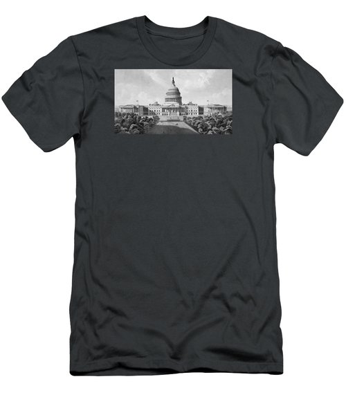 Us Capitol Building Men's T-Shirt (Slim Fit) by War Is Hell Store