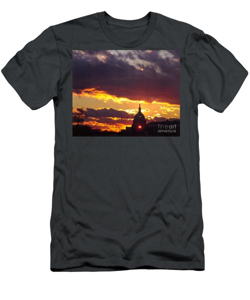 U.s. Capitol Dome At Sunset Men's T-Shirt (Athletic Fit)