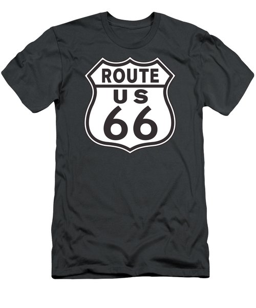 Us Route 66 Sign Men's T-Shirt (Athletic Fit)