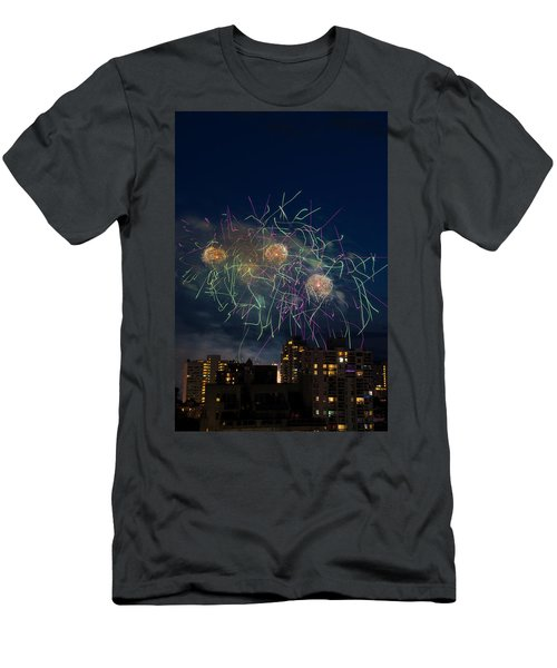 Usa 2 Men's T-Shirt (Slim Fit) by Ross G Strachan